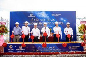 Hưng Thịnh Incons cất nóc dự án Q7 Saigon Riverside Complex